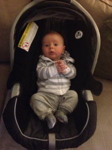 """Theo on his first day of """"school."""""""