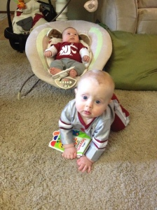 Watching the Cougs play in the New Mexico Bowl with cousin Ryder.