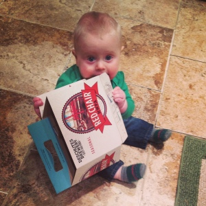 Who needs toys when you've got a beer box?