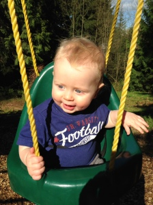 Swinging in the sunshine.