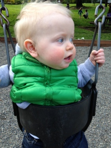 Swinging in the park.