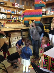Kiddos and the pullstring pinata.