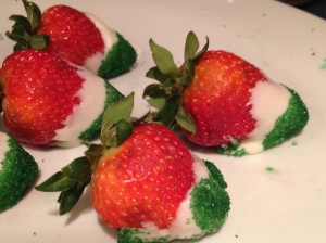Mexican flag strawberries.