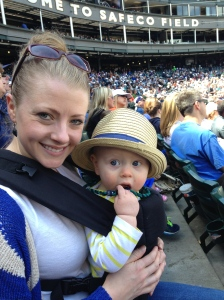 Mother's Day at the Mariner's game.