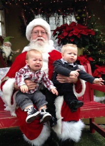 Theo and cousin Ryder weren't a fan of Santa.